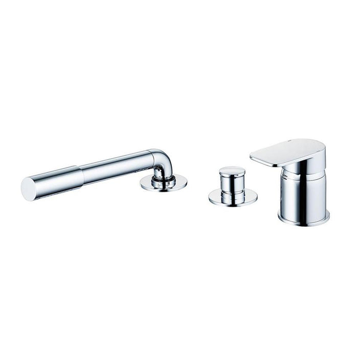 Sottini Turano Single Lever Three Hole Bath Shower Mixer with Handspray, No Spout - Unbeatable Bathrooms