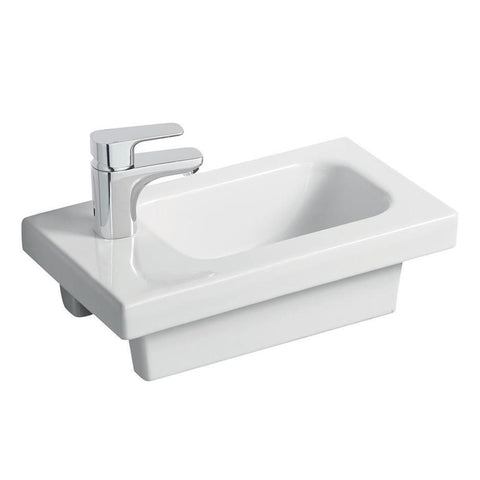 Sottini Chiani 45cm x 25cm Basin with Platform, No Overflow - One Taphole - Unbeatable Bathrooms