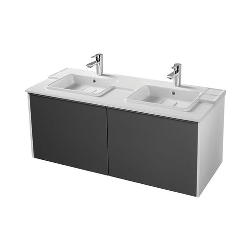 Sottini Simeto 120cm Wall Hung Basin Unit with 2 Drawer and 2 Internal Drawer - Unbeatable Bathrooms