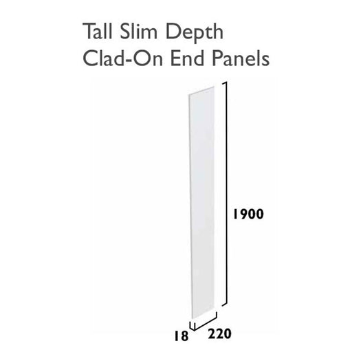 Tavistock Calm Tall End Panel - Reduced Depth - Unbeatable Bathrooms