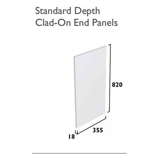 Tavistock Calm End Panel - Standard Depth - Unbeatable Bathrooms