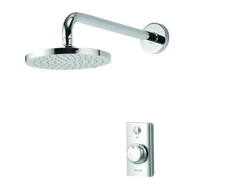 Visage Smart Concealed Shower with Wall Mounted Fixed Head - Unbeatable Bathrooms