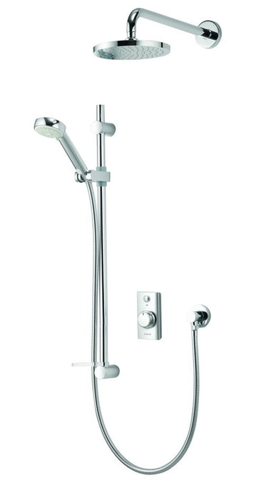 Visage Smart Divert Concealed Shower with Wall Mounted Fixed & Adjustable Heads - Unbeatable Bathrooms