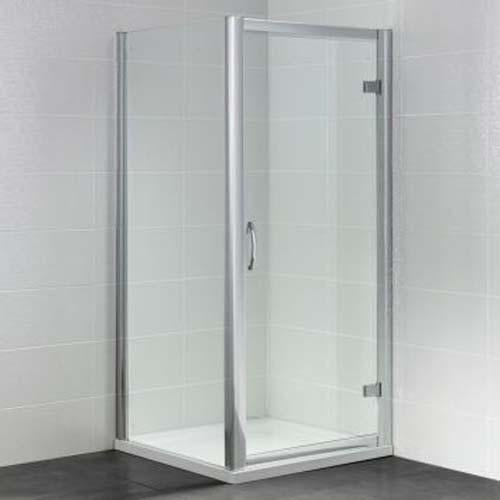 April Identiti Shower Enclosure with Semi Frameless Hinge Door - Unbeatable Bathrooms