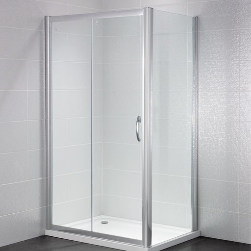 April Identiti Shower Enclosure with Slider Door - Unbeatable Bathrooms