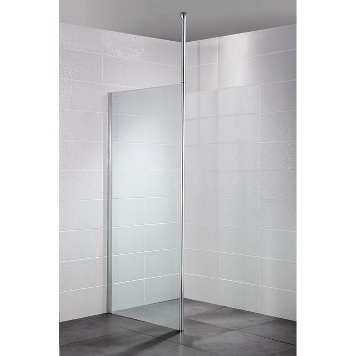 April Identiti Wetroom Floor to Ceiling Post - Unbeatable Bathrooms