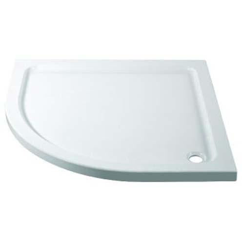 April Quadrant White Stone Tray with 90mm Waste - Unbeatable Bathrooms