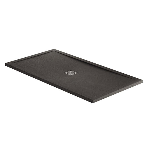 April Slate Effect Black Rectangle Tray - Unbeatable Bathrooms