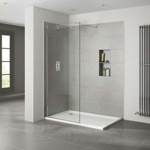 April Wetroom 10mm Clear Glass Return Panel - Unbeatable Bathrooms