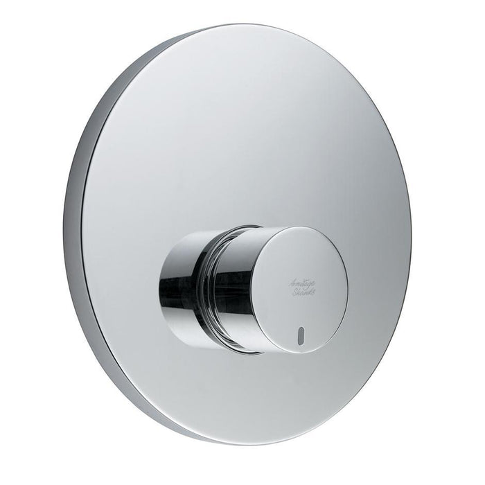 Armitage Shanks Avon 21 Self Closing Push Button Shower Valve with Concealing Plate, Non Mixing - Unbeatable Bathrooms