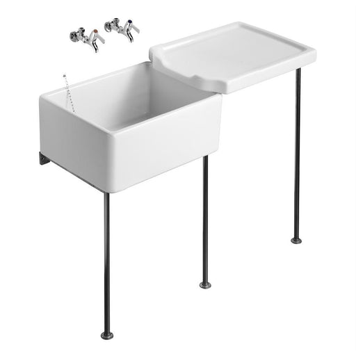 Armitage Shanks Belfast Sink 60cm X 46cm X 26cm Heavy Duty - Unbeatable Bathrooms