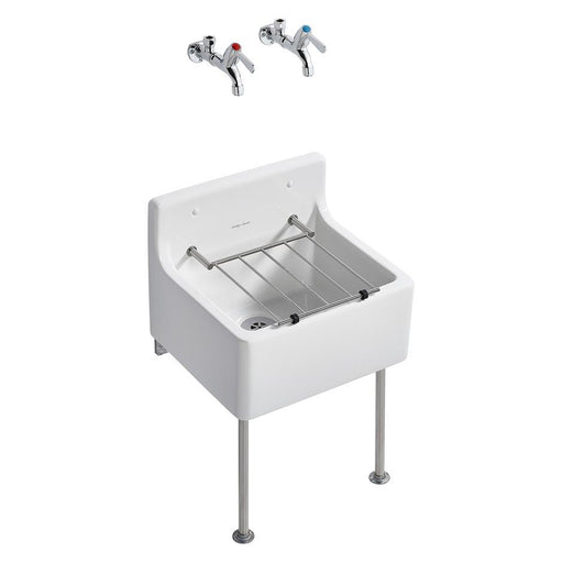 Armitage Shanks Birch Cleaner'S Sink with Fitted Bucket Grating - Unbeatable Bathrooms