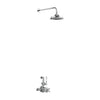 Burlington Avon Thermostatic Exposed Bath Shower Valve Single Outlet with Fixed Shower Arm Rose - Unbeatable Bathrooms