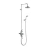 Burlington Avon Thermostatic Exposed Shower Valve Two Outlet Rigid Riser Swivel Shower Arm Handset & Holder with Hose - Unbeatable Bathrooms