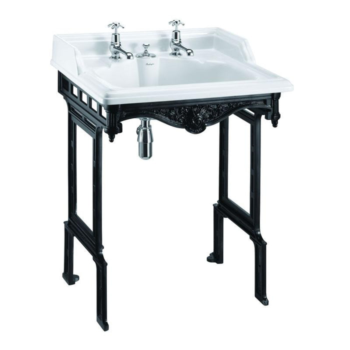 Burlington Classic 65cm Basin with Invisible Overflow and Basin Stand - Unbeatable Bathrooms