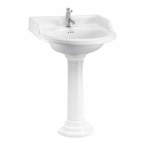 Burlington Classic 65cm Round Basin and Regal Round Pedestal - Unbeatable Bathrooms