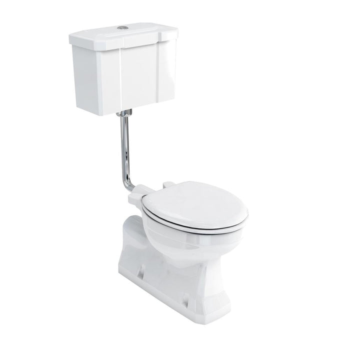 Burlington Concealed Outlet Low-Level Pan with Rear Or Bottom Entry Push Button Cistern - Unbeatable Bathrooms