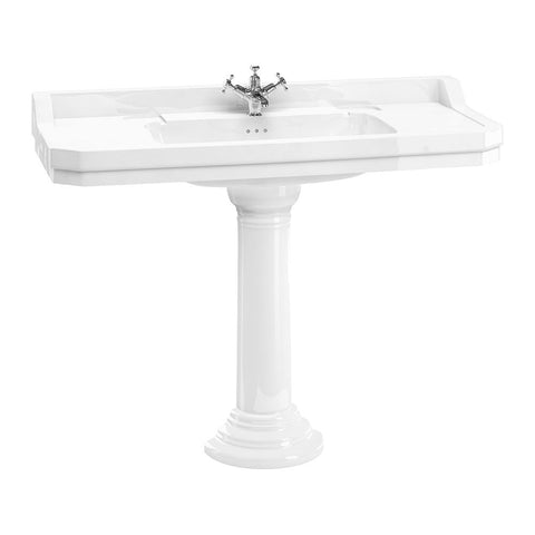 Burlington Edwardian 120 cm Basin with Regal Round Pedestal - Unbeatable Bathrooms