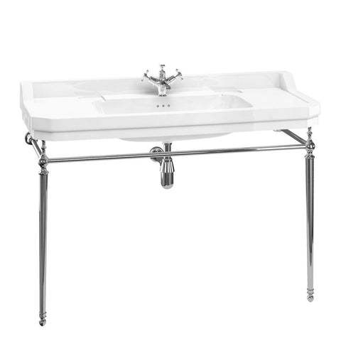 Burlington Edwardian 120cm Basin Wash St and Chrome Plated Brass Fittings - Unbeatable Bathrooms