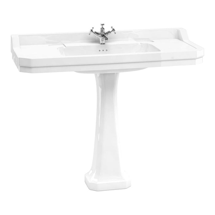 Burlington Edwardian 120cm Basin with Classic Pedestal - Unbeatable Bathrooms