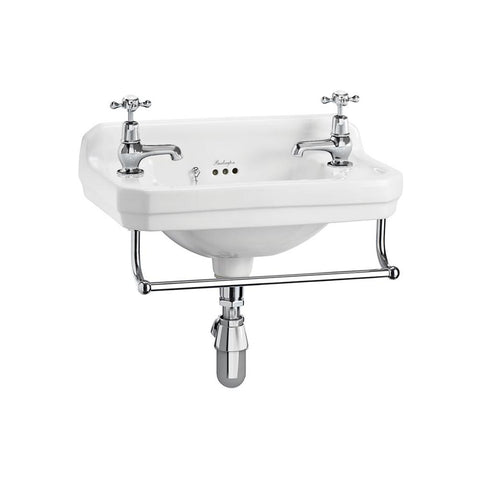 Burlington Edwardian 51cm Cloakroom Basin with Towel Rail - Unbeatable Bathrooms