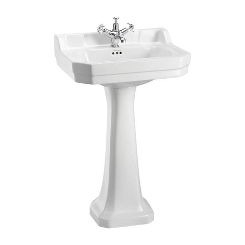 Burlington Edwardian 56Cm Basin with Pedestal - B4