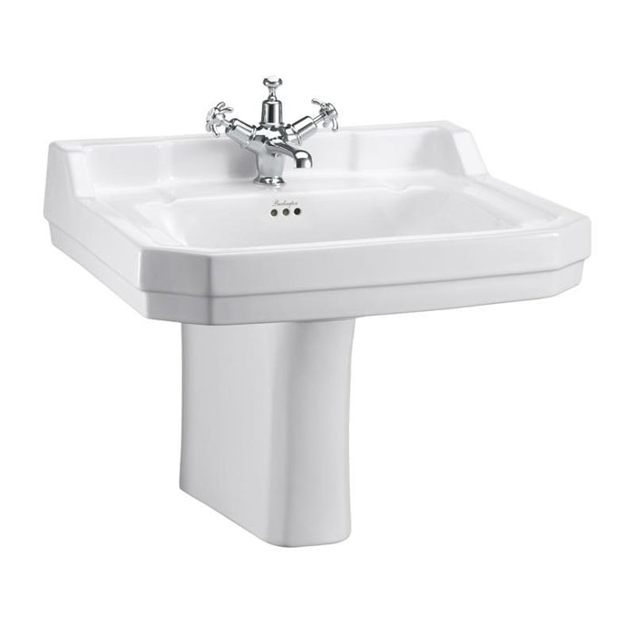 Burlington Edwardian 61cm Basin and Pedestal - Unbeatable Bathrooms