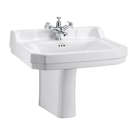 Burlington Edwardian 61Cm Basin and Pedestal - B5