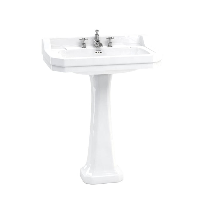 Burlington Edwardian 80cm Basin with Classic Pedestal - Unbeatable Bathrooms