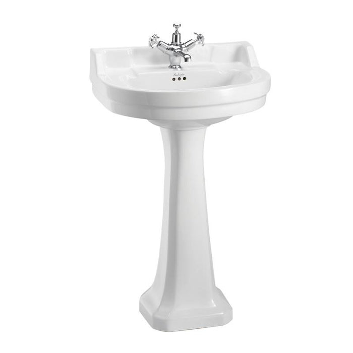Burlington Edwardian Round 56cm Basin and Pedestal - Unbeatable Bathrooms