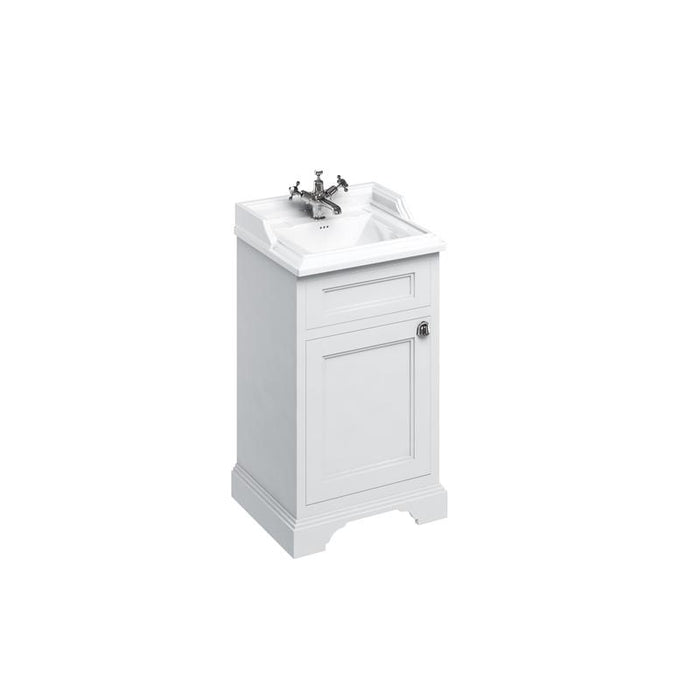 Burlington Freestanding 50Cm Basin Unit with Door - Unbeatable Bathrooms