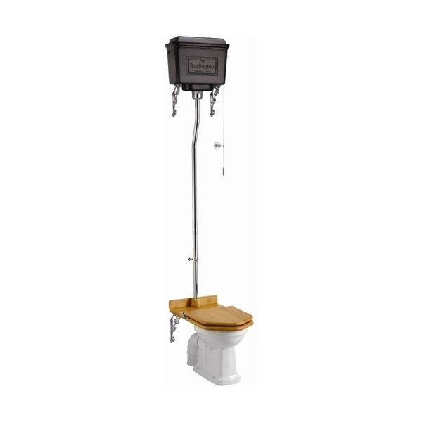 Burlington High-Level Pan with High-Level Cistern and Flush Pipe Kit - Unbeatable Bathrooms