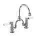 Burlington Kensington 2 Tap Hole Arch Mixer with Curved Spout, 200mm Centres - Unbeatable Bathrooms