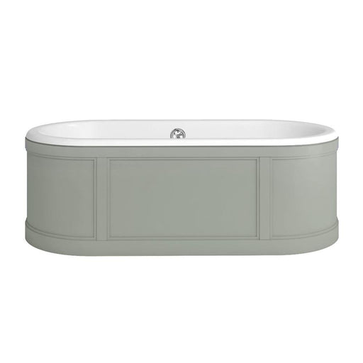 Burlington London Bath with Curved Surround incl overflow & waste - Unbeatable Bathrooms
