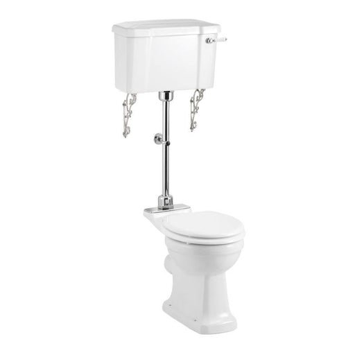Burlington Regal Medium Level White Ceramic WC Unit - Unbeatable Bathrooms