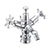 Burlington Regent Low Central Ceramic Indice Bidet Mixer with Pop-Up Waste - Unbeatable Bathrooms