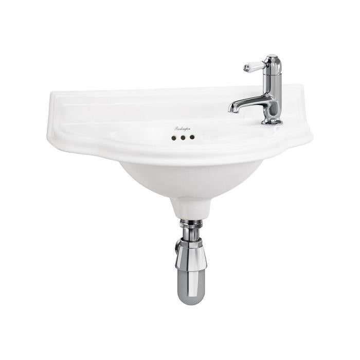 Burlington Small 50.5Cm Curved Front Cloakroom Basin - P13R