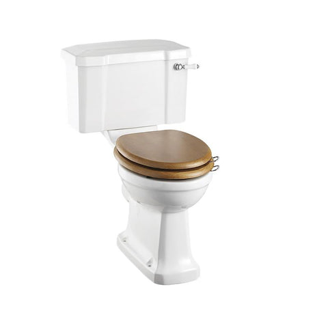 Burlington Standard Close Coupled WC Unit with 52 cm Wide Ceramic Lever Flush - C1+P5