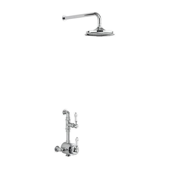 Burlington Stour Thermostatic Exposed Shower Valve Single Outlet with Fixed Shower Arm - Unbeatable Bathrooms