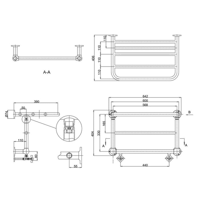 Burlington Strand Bath Radiator - Diagram Image