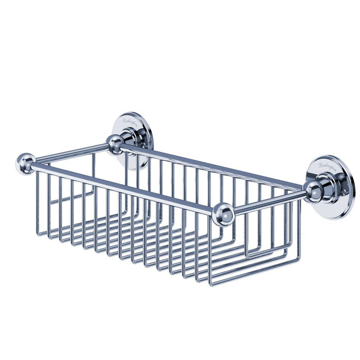 Burlington Traditional 62Mm Deep Bath Wire Basket - Unbeatable Bathrooms
