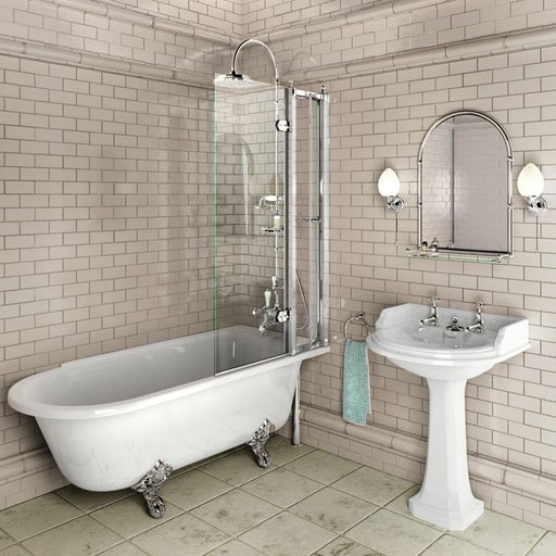 Burlington Traditional Bath Screen with Access Panel - Unbeatable Bathrooms