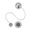 Burlington Traditional Chrome Plated Bath Overflow Plug and Chain - Unbeatable Bathrooms