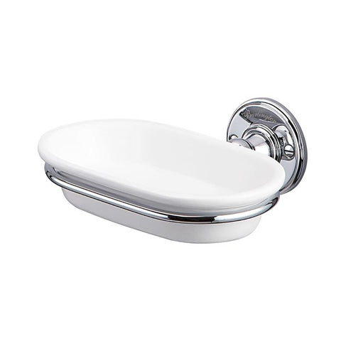 Burlington Traditional Chrome Plated Soap Dish - Unbeatable Bathrooms