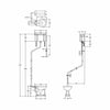 Burlington Traditional High Level Pan with Cistern and Angled Flush Pipe Kit - Diagram Image