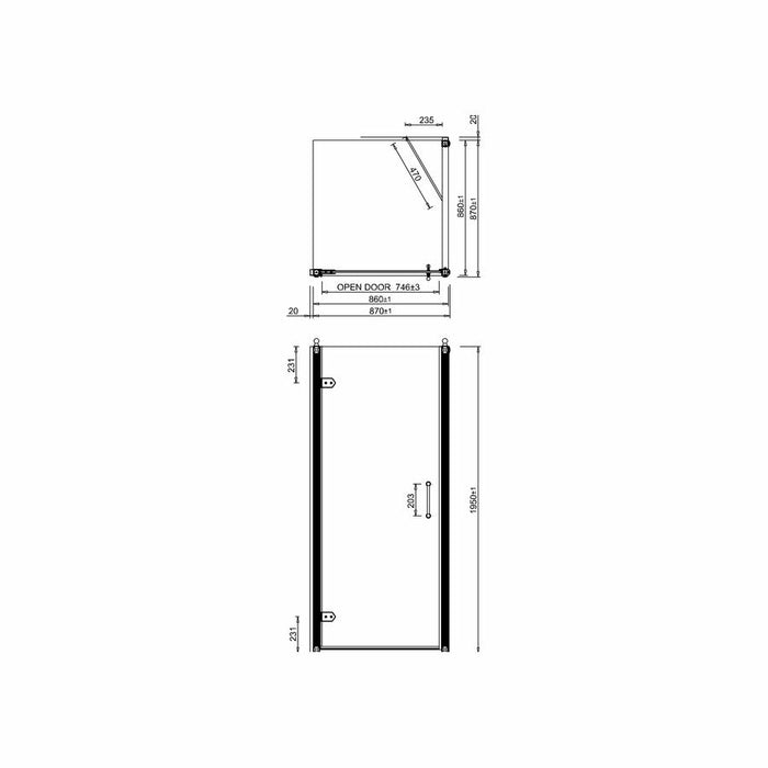 Burlington Traditional Hinged Bath Door Side Panel - Unbeatable Bathrooms