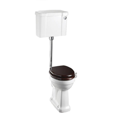 Burlington Traditional Low Level Pan with Standard Push Button Cistern and Flush Pipe Kit - Unbeatable Bathrooms