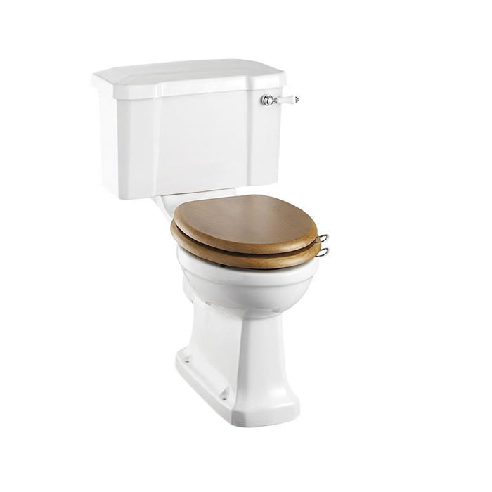 Burlington Traditional Rimless Close Coupled Pan with Cistern 44cm Ceramic Lever - Unbeatable Bathrooms