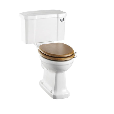 Burlington Traditional Rimless Close Coupled Pan with Cistern 51cm Front Button - Unbeatable Bathrooms