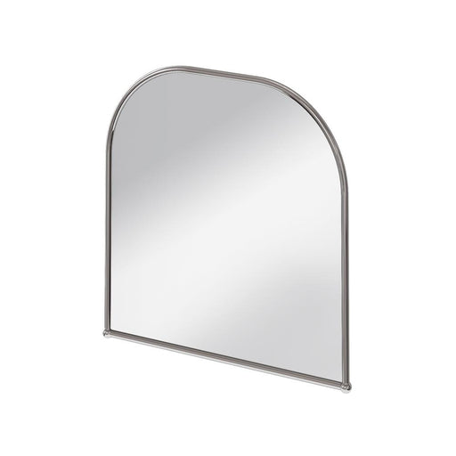 Burlington Traditional Stainless Steel & Glass Curved Mirror - Unbeatable Bathrooms